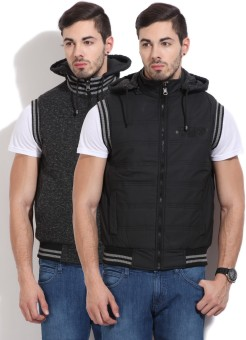 Fort Collins Sleeveless Solid Men's Reversible Jacket Jacket - JCKEAGGCGFBZZHPQ