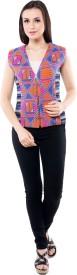 I.Am.Me Sleeveless Geometric Print Women's Jacket