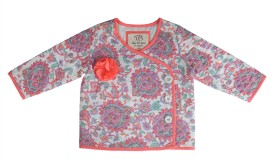 Toy Balloon Kids Neon Printed Full Sleeve Floral Print Baby Girl's Quilted Jacket