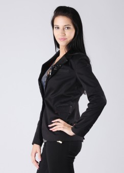 Elle Full Sleeve Solid Women's Jacket: Jacket