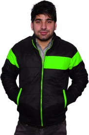 Frostini Full Sleeve Striped Men's Quilted Jacket