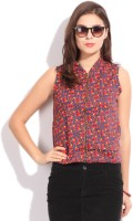 Global Desi Sleeveless Printed Women's Jacket