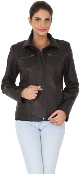Kosher KLJ003-BLACK Full Sleeve Solid Women's Quilted Jacket