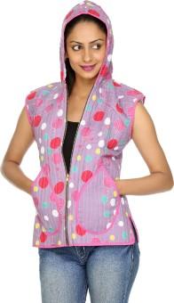 Rajrang Sleeveless Polka Print Women's Quilted Jacket