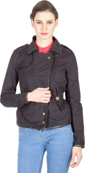 C.Vox Full Sleeve Solid Women's Quilted Jacket