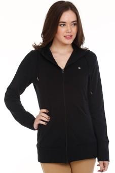 Mustard Black Hood Full Sleeve Solid Women's Quilted Jacket