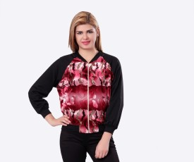 Glam & Luxe Graphic Print Full Sleeve Printed Women's Cropped Jacket - JCKE355YYKF2EPPZ