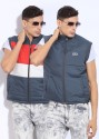 Fila Sleeveless Striped Reversible Men's Jacket - JCKDRS9CEKKQHWC9