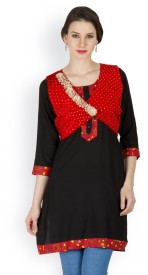 Famous by Payal Kapoor Sleeveless Self Design Women's Jacket