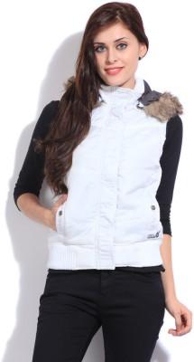 Duke Duke Sleeveless Solid Women's Jacket (White)