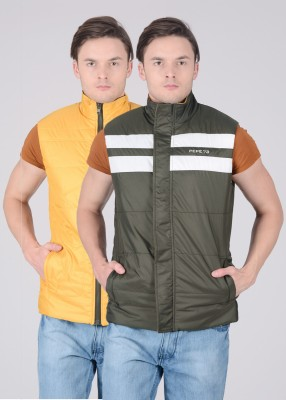 Pepe Pepe Sleeveless Striped Men's Reversible Jacket (Multicolor)
