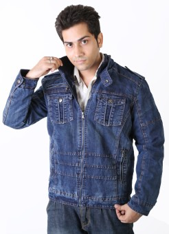 Nomkler JKT6130 Full Sleeve Solid Men's Denim Denim Jacket