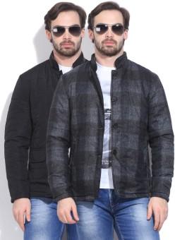 Peter England Full Sleeve Solid Men's Reversible Jacket Reversible Jacket