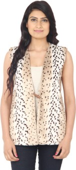 Eighteen4ever Gracious Grey Sleeveless Animal Print Women's Casual Jacket