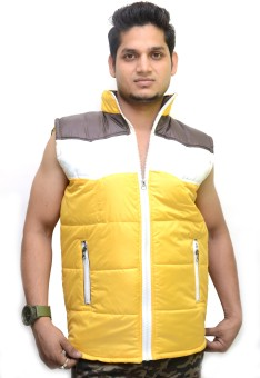 Nation Mania Sleeveless Solid Men's Bomber Jacket: Jacket