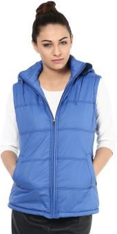 Okane Fashionable Sleeveless Self Design Women's Quilted Jacket