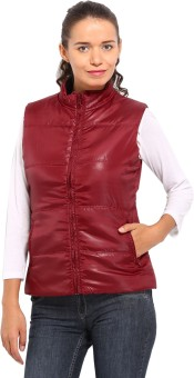 Kook N Keech Sleeveless Solid Women's Quilted Reversible Jacket