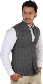 Platinum Studio Sleeveless Solid Men's Nehru Jacket: Jacket