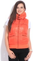 Flying Machine Sleeveless Solid Women's Jacket - JCKDQZ8SHMAMKTM3