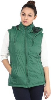 Okane Fashionable Sleeveless Self Design Women's Quilted Jacket - JCKE3BS6P4VKF7PK