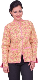 ChhipaPrints Full Sleeve Printed Women's Quilted Jacket