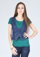 Alibi Sleeveless Solid Women's Jacket