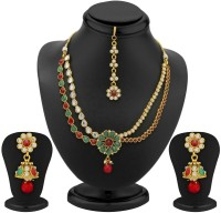 Trushi 2 Strings , Ruby And Emerald Copper Jewel Set Gold