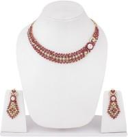 Styylo Fashion Alloy Jewel Set Pink, White, Gold, Multicolor