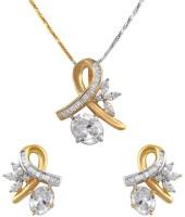 Styylo Fashion Brass Jewel Set White