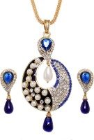 Vendee Fashion Royal Zinc Jewel Set Blue