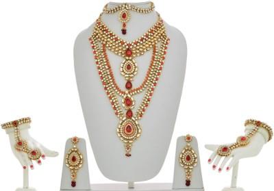 e9001fd6b Lucky Jewellery Kundan Alloy Jewel Set for Rs. 3