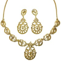 Sempre Of London Floral Sparkle Alloy Jewel Set Gold