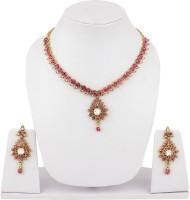 Styylo Fashion Alloy Jewel Set White, Gold, Pink, Multicolor