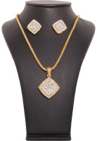 Vendee Fashion Elegant Diamond Brass Jewel Set Gold