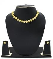 Zaveri Pearls Lovely Designer Austrian Diamond Zinc Jewel Set Gold
