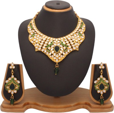Vendee Fashion Party Wear Fashion Designer Alloy Jewel Set Gold