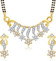 VK Jewels Shine Star Gold And Rhodium Plated Alloy Jewel Set Gold