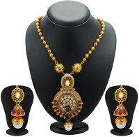 Sukkhi Lavish Peacock Antique Kundan Copper Jewel Set Gold