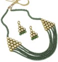 Karatcart Ethnic Kundan Alloy Jewel Set - Green, Gold