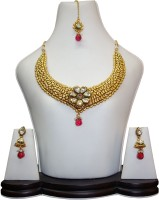 Anjan Stunning Traditional Alloy Jewel Set Gold