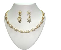 Sempre Of London Limited Edition Designer Pearl Necklace Alloy Jewel Set Gold