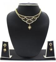 Zaveri Pearls Ethnic Diva Traditional Necklace Zinc Jewel Set Purple