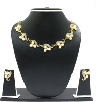 Zaveri Pearls Pearl Grape Modern Alloy Jewel Set Gold