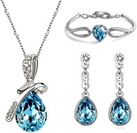 Crunchy Fashion Blue Princess Alloy Jewel Set (Blue)