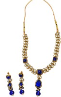 Akshada Creation Gold Antique Finish Alloy Jewel Set Blue