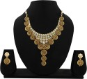 Zaveri Pearls Traditional Stylish Alloy Jewel Set - White, Green