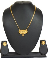 Ratnakar Golden Ginni Traditional Brass Jewel Set Gold