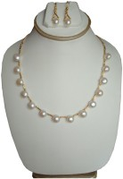 Sri Bansilal Pearls Button Chain Necklace Mother Of Pearl Jewel Set White