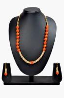 Akshada Creation Gold Antique Finish Alloy Jewel Set Orange