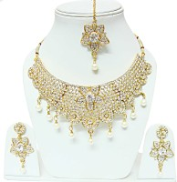 Bling N Beads Traditional Wedding Wear Alloy Jewel Set Gold, White